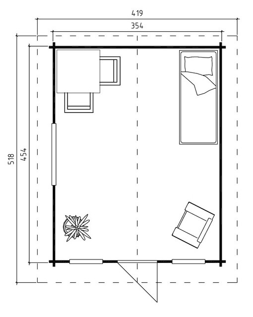 Spalding log cabin plan
