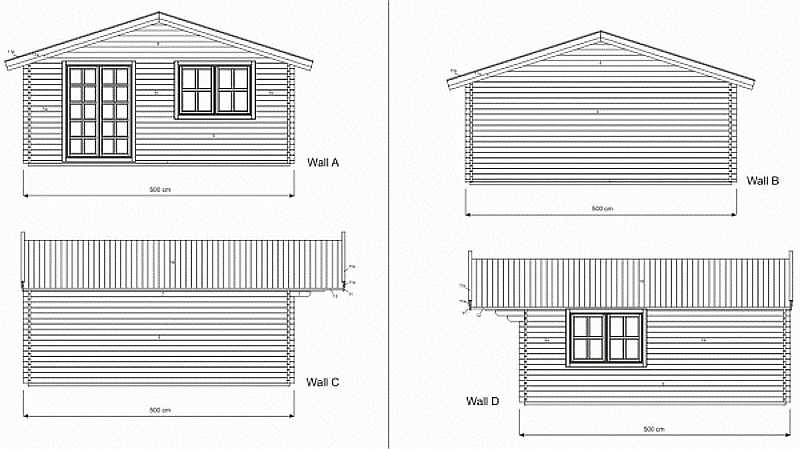 Wales log cabin plan