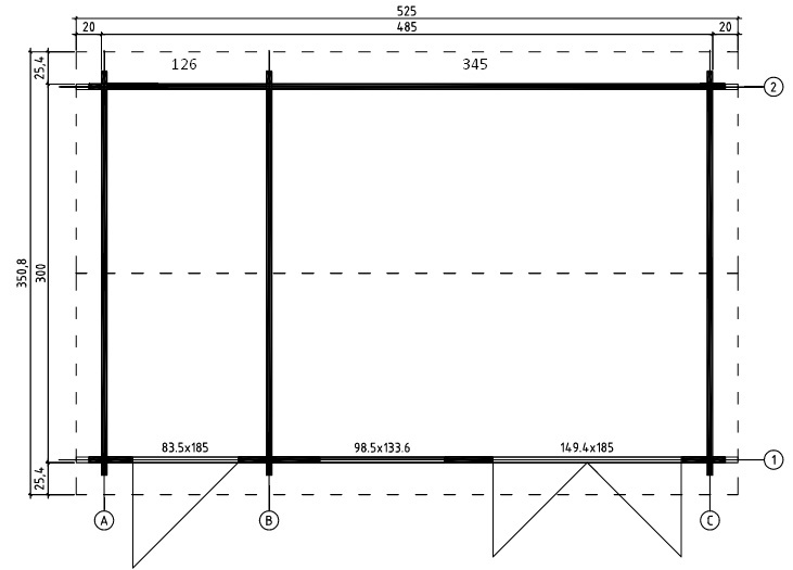 Wrexham2 log cabin plan