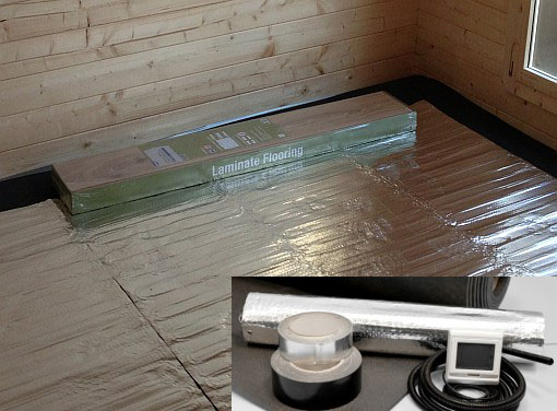 Underfloor Heating Heating Your Garden Room Electric Foil Heater
